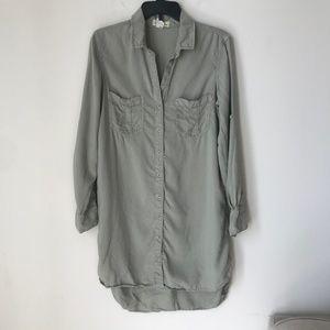 Anthropologie Cloth & Stone Green Shirt Dress